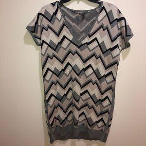 MAX MARA size M Short Striped Silk Sweater Dress